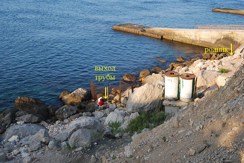 Береговые строения пансионата Айя