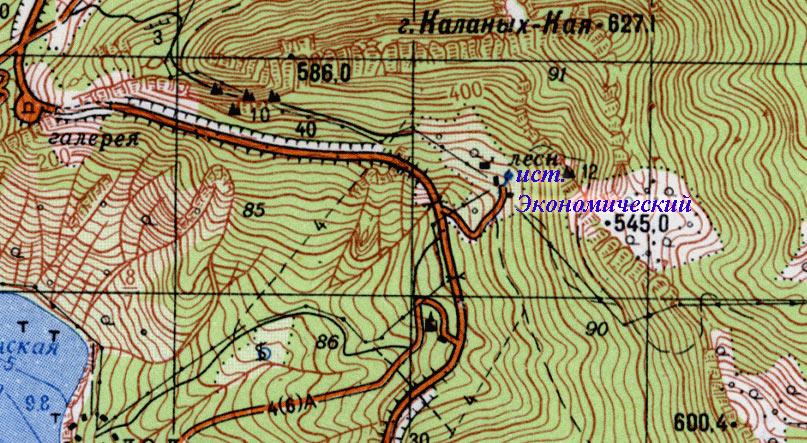 Фрагмент карты района Ласпи